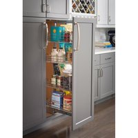 "Hardware Resources - Pantry Organizers - 15"" wire pantry pullout with heavy-duty soft-close in Polished Chrome"