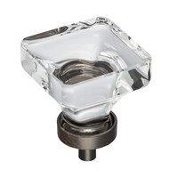 "Jeffrey Alexander - Harlow Cabinet Hardware - 1-3/8"" Glass Cabinet Knob in Brushed Oil Rubbed Bronze"