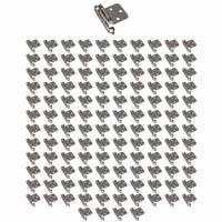 Hardware Resources - Hinges - (125 PACK) Flush Hinge, Face Frame Self Closing Hinge in Brushed Pewter
