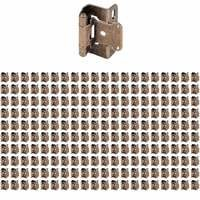 "Hardware Resources - Hinges - (200 PACK) 1/2"" Overlay, Half Wrap 3 Hole in Burnished Brass"