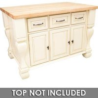 "Jeffrey Alexander - Kitchen Islands - 53 1/2"" x 33 3/4"" Kitchen Island in Antique White"