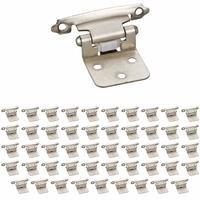 Hardware Resources - Builder Hardware - (50 PACK) Flush Hinge in Satin Nickel