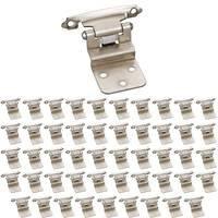 Hardware Resources - Builder Hardware - (50 PACK) 3/8 Inset Hinge in Satin Nickel