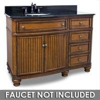 """Elements Hardware - Large Bathroom Vanities - 48"""" Bathroom Vanity in Walnut with Black Granite Top and Bowl"""