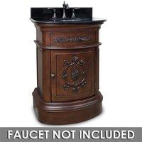 """Elements Hardware - Small Bathroom Vanities - 26"""" Bathroom Vanity in Merlot with Black Granite Top and Bowl"""