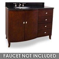 """Jeffrey Alexander - Large Bathroom Vanities - 48"""" Bathroom Vanity in Mahogany with Black Granite Top and Bowl"""