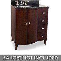 """Jeffrey Alexander - Small Bathroom Vanities - 30"""" Bathroom Vanity in Mahogany with Black Granite Top and Bowl"""