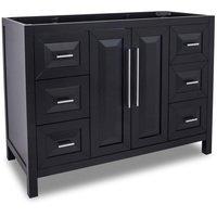 "Jeffrey Alexander - Large Bathroom Vanities - Vanity 47"" x 21-1/2"" x 35-3/16"" in Black"