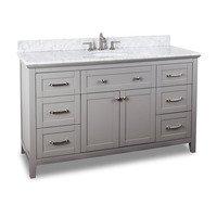 "Jeffrey Alexander - Large Bathroom Vanities - 60"" Bathroom Vanity in Grey"