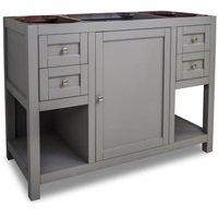 """Jeffrey Alexander - Large Bathroom Vanities - Vanity 47-1/2"""" x 21-3/4"""" in Grey"""