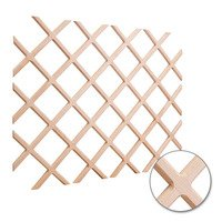 "Hardware Resources - Wine Accessories - Wine Lattice Rack with Bevel 24"" x 30"" in Oak Wood"
