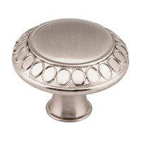"Jeffrey Alexander - Symphony Cabinet Hardware - 1 3/8"" Diameter Art Deco Knob in Satin Nickel"