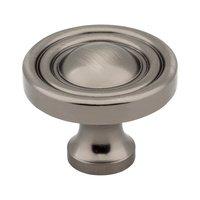 "Jeffrey Alexander - Bella Cabinet Hardware - 1 3/8"" Diameter Knob in Brushed Pewter"