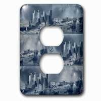 Jazzy Wallplates - Nautical - Single Duplex Outlet With Vintage Castles And Ships Nautical Art