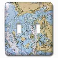 Jazzy Wallplates - Nautical - Double Toggle Wallplate With Nautical Chart I