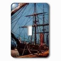 Jazzy Wallplates - Nautical - Single Toggle Wallplate With Steamer Sail Ship Shipping Marine Transport History Nautical