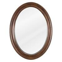 "Jeffrey Alexander - Bathroom Vanity Mirrors - 23-3/4"" W x 1"" D x 31-1/2"" H Nutmeg Clairemont Mirror"