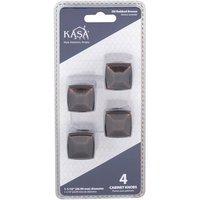 "Kasaware - Decorative Knobs - (4pc Pack) 1 1/16"" Diameter Cabinet Knob in Satin Nickel"