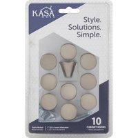 "Kasaware - Decorative Knobs - (4pc Pack) 1"" Square Cabinet Knob in Satin Nickel"
