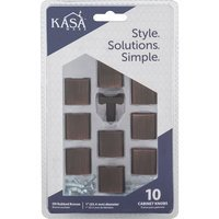 "Kasaware - Decorative Knobs - (4pc Pack) 1"" Diameter Cabinet Knob in Brushed Oil Rubbed Bronze"
