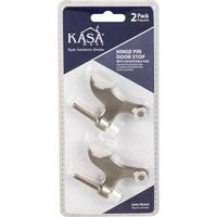 Kasaware - Functional Hardware - (2pc Pack) Hinge Pin Door Stops with Adjustable Pad in Brushed Oil Rubbed Bronze