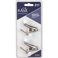 Kasaware - Functional Hardware - (2pc Pack) Hinge Pin Door Stops in Satin Nickel