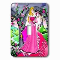 Jazzy Wallplates - Kids - Single Toggle Wallplate With Beautiful Princess
