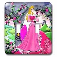 Jazzy Wallplates - Kids - Double Toggle Switchplate With Beautiful Princess