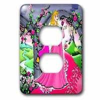 Jazzy Wallplates - Kids - Single Duplex Switchplate With Beautiful Princess