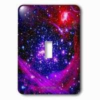 Jazzy Wallplates - Kids - Single Toggle Wallplate With Galaxy And Nebula Milky Way Galaxy