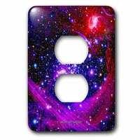 Jazzy Wallplates - Kids - Single Duplex Wallplate With Galaxy And Nebula