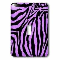 Jazzy Wallplates - Kids - Single Toggle Wallplate With Purple And Black Zebra Print