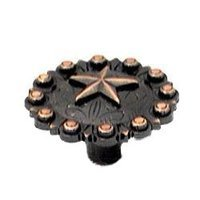 Wild Western Hardware - Oil Rubbed Copper - Star Conch Knob Oil Rubbed Copper