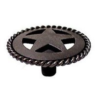 Wild Western Hardware - Oil Rubbed Bronze - Medium Star Knob with Braided Edge in Oil Rubbed Bronze