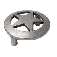 Wild Western Hardware - Antique Pewter - Large Star Pull in Antique Pewter