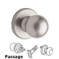 Kwikset Door Hardware - Polo - Polo Passage Door Knob in Satin Nickel