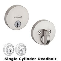 Kwikset Door Hardware - Antimicrobial Microban - Single Cylinder Deadbolt in Iron Black