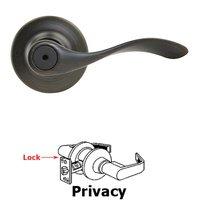 Kwikset Door Hardware - Antimicrobial Microban - Balboa Privacy Door Lever in Satin Nickel