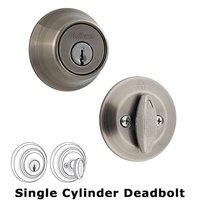 Kwikset Door Hardware - 660 Series - Single Cylinder Deadbolt in Antique Nickel