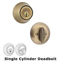 Kwikset Door Hardware - 660 Series - Single Cylinder Deadbolt in Antique Brass