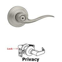 Kwikset Door Hardware - Antimicrobial Microban - Tustin Privacy Door Lever in Satin Nickel