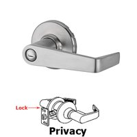 Kwikset Door Hardware - Kingston - Light Commercial Kingston Privacy Door Lever in Satin Chrome