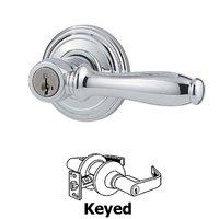 Kwikset Door Hardware - Ashfield - Ashfield Keyed Entry Door Lever in Bright Chrome