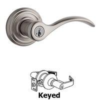 Kwikset Door Hardware - Antimicrobial Microban - Pembroke Privacy Door Lever in Satin Nickel