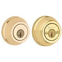 Kwikset Door Hardware - Signature - Deadbolt Double Cylinder Deadbolt in Lifetime Brass
