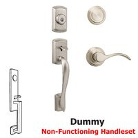 Kwikset Signature Series Avalon Dummy Handleset In Pembroke Interior Inactive Handleset Trim Right Hand Door Lever - Inside Dummy Trim In Satin Nickel