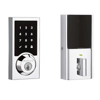 Kwikset Door Hardware - Smartcode - 916 Touch Screen Electronic Deadbolt in Polished Chrome