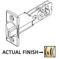 """Kwikset Door Hardware - Door Accessories - 2 3/8"""" Backset Square Deadlatch in Bright Brass"""