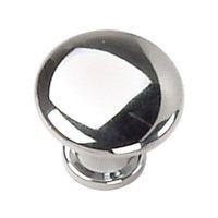 "Laurey Hardware - Delano - 7/8"" Button Knob in Polished Chrome"