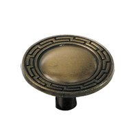 "Laurey Hardware - Classic Traditions - 1 3/8"" Grecian Knob in Antique Brass"